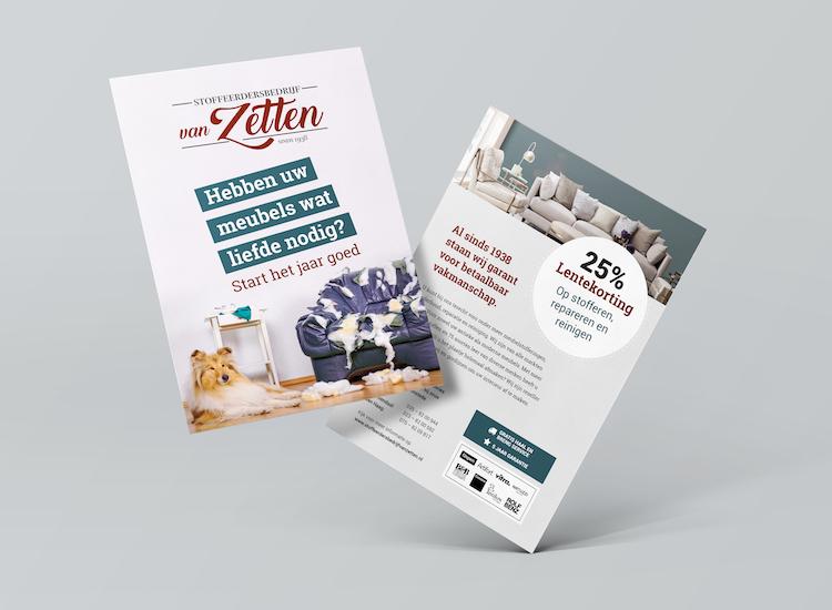 Voorbeeld van flyer ontwerp
