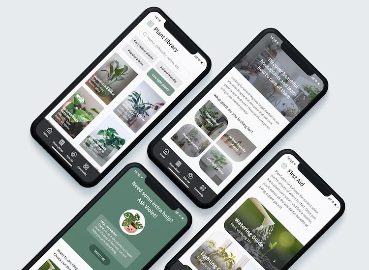 WePlant app voorbeeld